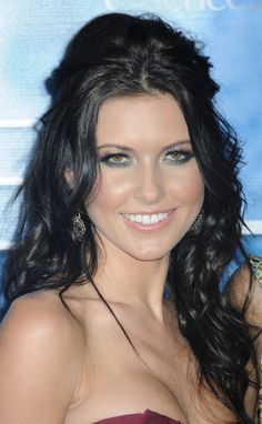 Audrina Patridges half up half down hairstyle