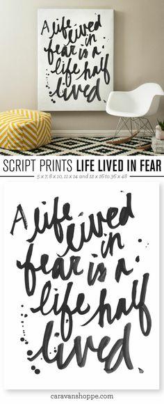 Great motivational print from Caravan Shoppe!