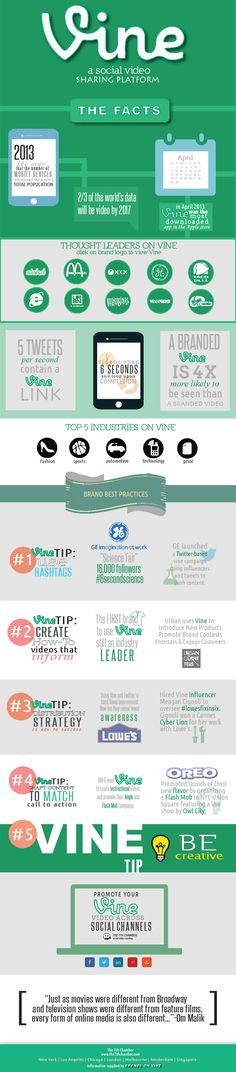 Cómo las marcas usan Vine #infografia #infographic #socialmedia | TICs y Formación