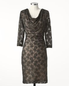Metallic lace dress #ColdwaterCreek