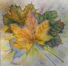 Laura Leeders Watercolor Journey: Autumn Leaves - A Watercolor Painting By Laura Leeder