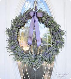 lavender front door wreath...