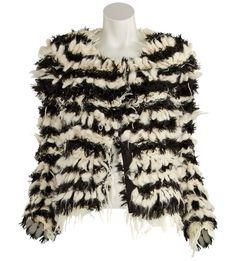 Chloé-Shaggy Knit Jacket info email ashlee@justoneeye.com