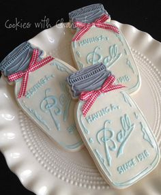 Ball jar cookies by Cookies With Character
