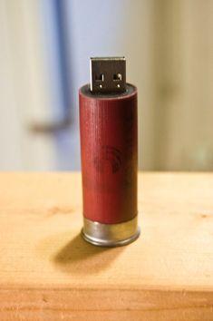 USB flash drive .... in a shotgun shell!