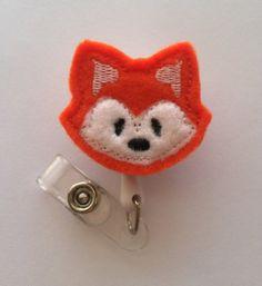 Fox Retractable ID Badge Reel-NICU Nurse-Pediatric Nurse-Children's Nurse-Rn-Lpn-Cna-Medical Assistant-Vet Tech