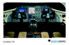 """Universal Avionics: Learjet 35 - (1) Display Suite: 3 EFI-890R 8.9"""" Flat Panel Displays; (2) Situational Awareness: 1 Vision-1 Synthetic Vision System, 1 Terrain Awareness and Warning System (TAWS), 1 Application Server Unit (ASU) for Jeppesen charts, checklists, weather and E-DOCS; (3) Flight Management: 2 UNS-1Fw FMS with 5"""" CDUs; (4) Radio Tuning and Communications: 1 Radio Control Unit (RCU)"""