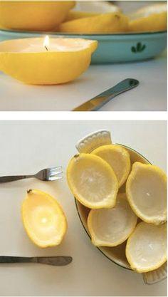 4. Lemons make great emergency candles.