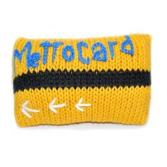 Hand-knit Metrocard Rattle- for little New Yorkers.