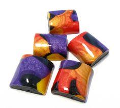 polymer clay tutorials, polymer clay beads, color, shift necklac, polym clay, necklac tutori