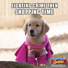 Fighting crime then shopping time.