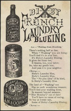 Bixby's French Laundry Blue [back] | Flickr - Boston Public Library (they're so awesome)