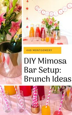 DIY Mimosa Bar Setup