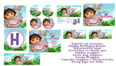SALE Dora the Explorer Printable Birthday Party Package. $20.00, via Etsy.
