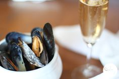 Mussels in champagne