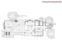 Six Senses Yao Noi / Hideaway Pool Villa (Garden view) -  floor plan, 154 sqm* 18 units