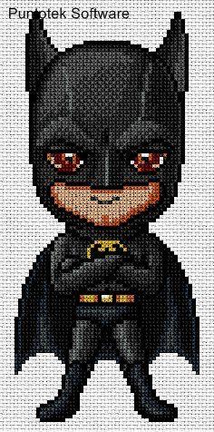 Batman Cross Stitch Image only checkout the site at -> http://nacaranta.com/patrones/infantiles/punto%20de%20cruz_2.htm