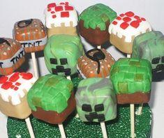 Minecraft Cake Pops