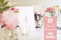 table number template, printables, table number printable, number diy, grey tabl, printabl tabl, paper goods, pink, free printable table numbers
