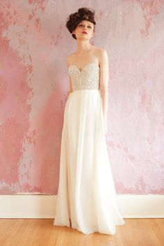 gorgeous gown with beaded bodice by Sarah Seven