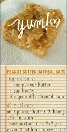PB honey oatmeal bars