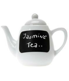 Tea of the Day Blackboard Teapot