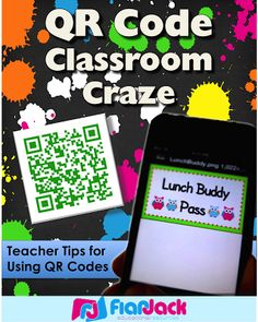 FlapJack Educational Resources: Tons of tutorials, freebies, and resources for using QR codes in your classroom idea, school, edtech resources, qr code classroom, qr codes, ipad resources for classroom, grade, teach, flapjack educ