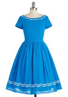 dreaming of this perfect blue dress