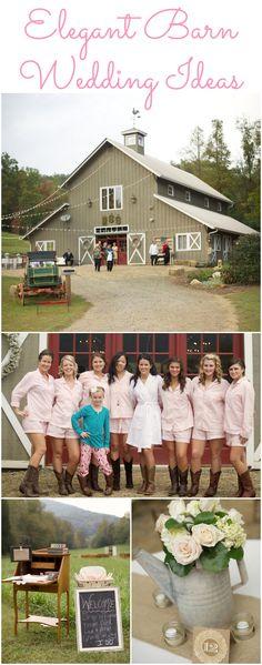 Wedding ideas for an elegant barn style wedding.