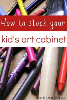 Best art supplies for kids to have on hand at home.