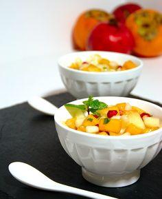 Salada de fruta com um toque de Outono