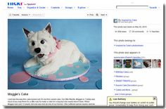 This is definitely in my top three favorite Westie cakes! I hope you can find this person on Flickr to see other pictures she has of this cake and the surrounding embellishments.