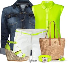"""Neon!"" by angkclaxton ❤ liked on Polyvore"