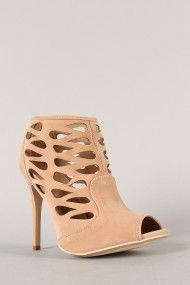 Anne Michelle Rapture-34 Cut Out Peep Toe Stiletto Heel
