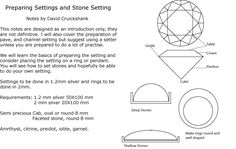 Preparing Settings & Stone Setting- notes by David Cruickshank