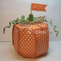 It's a Stamp Thing: Thankful for You Pumpkin Box