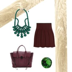 Emerald green and chocolate brown together.