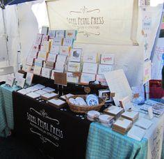 Steel Petal Press // How to Craft Booth Display - Renegade Craft Fair, 2012