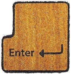 17 Nerdy Home Decor Items to Geek Out Over geek, the doors, keys, door mat, design studio, enter key, hous, homes, doormats