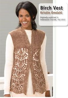 Crocheted Birch Vest, As Seen on Knitting Daily TV Episode 912—Free Pattern