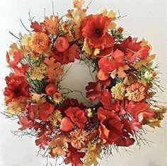 Oak Leaves Poppies And Lanterns Oh My Fall wreath Wreaths For Door http://www.amazon.com/dp/B00NMX61GY/ref=cm_sw_r_pi_dp_uDSgub0HZ6NKR