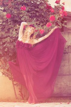"""Follow the Roses"" | Model: Eliisa Raats, Photographer: Perla Maarek, Fine Taste Magazine, Issue 8, Summer 2011"