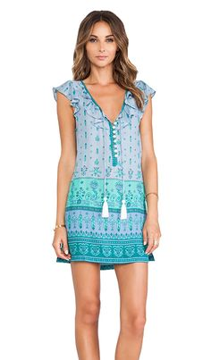 Tassel ruffle slip dress.