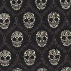 Mud Skull Damask by Michael Miller Fabrics