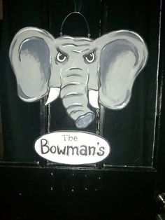 Alabama Elephant Face Personalized Door Hanger $39.99