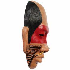 máscara de cerâmica com pintura dos povos indígenas máscara índio cerâmica modelagem,escultura