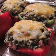 Black Bean Stuffed Peppers Allrecipes.com