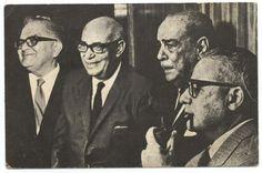 Gonzalo Barrios, Raul Leoni, Rómulo Gallegos y Rómulo Betancourt
