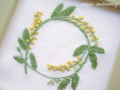 Freestyle Embroidery : Wreath of Mimosa - Mayu Embroidery