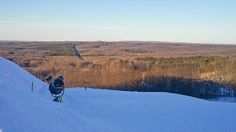 Skiing at Caberfae Peaks near Cadillac, MI. I always try to look for my house up there haha